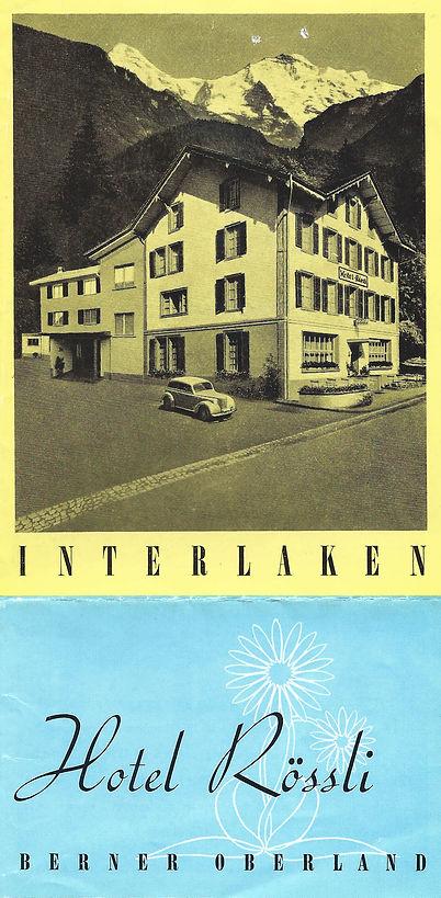 Hotel Rössli Interlaken 1955