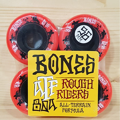 BONES 4 X ROUES CRUISER 80A 56 MM ROUGE ATF ROUGHRIDERS