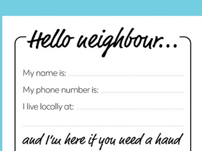 Note for a neighbour
