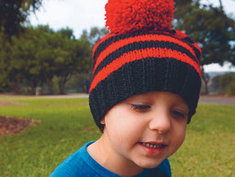 Easy beanie knitting pattern!