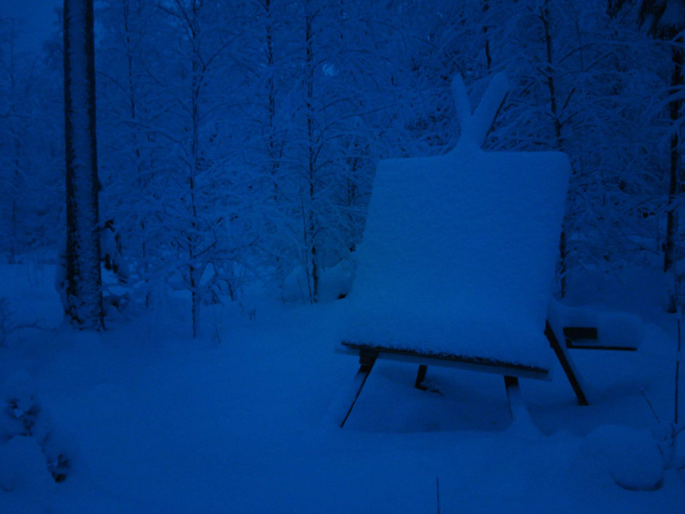 'From the Feet Up, Snow' 2012, collabora