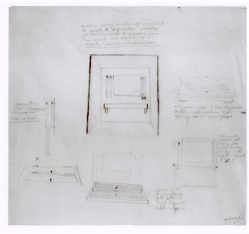 Stephen Willats Drawing for Environment Box