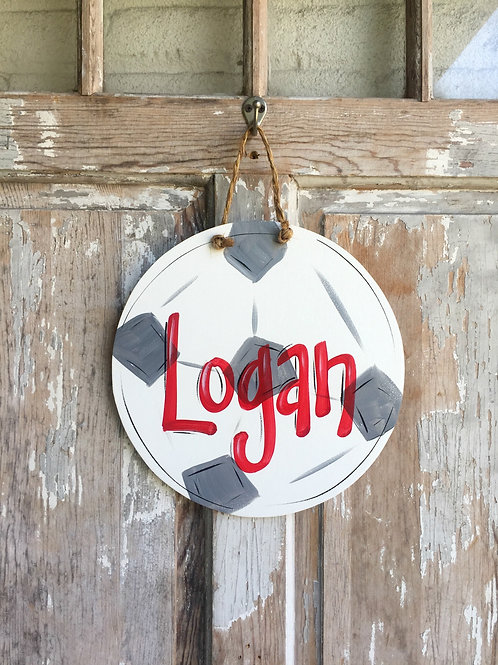 Soccer Ball Wall Art-Door Sign