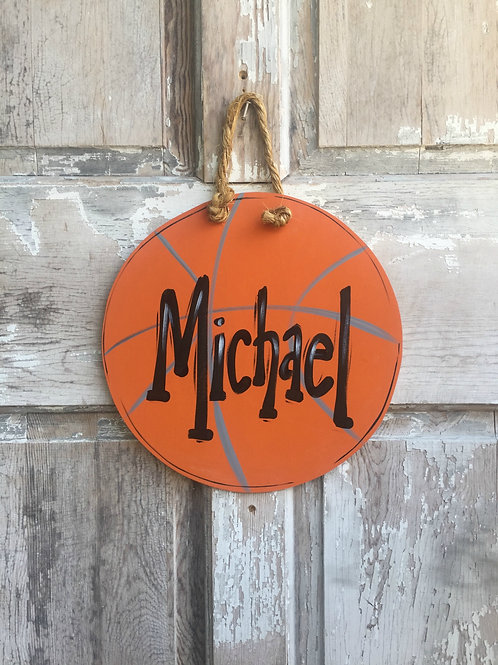 Basketball Wall Art-Door Sign