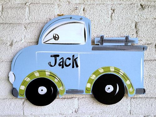 Blue Truck Wall Art-Door Sign