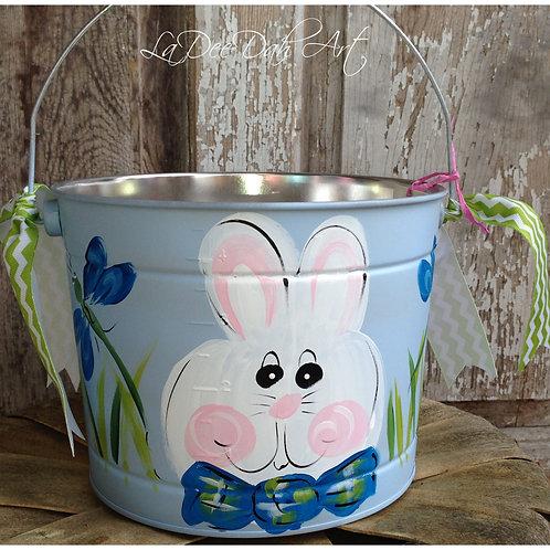 Blue Boy Bunny Bucket