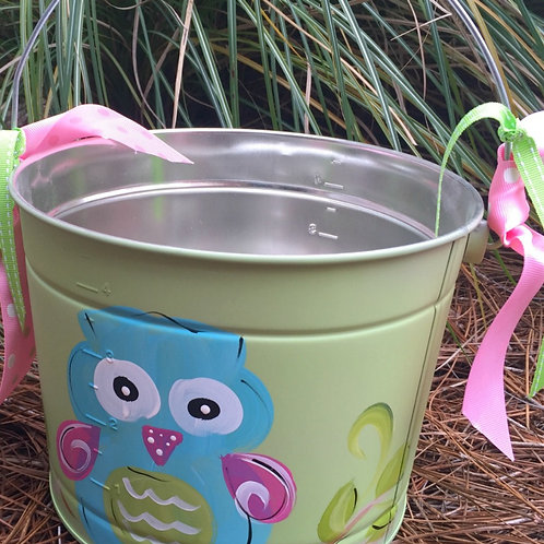 Owl Green Bucket