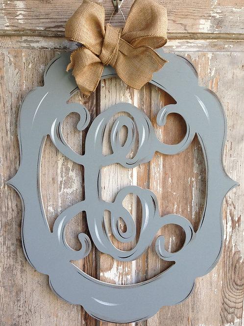 Wooden Monogram-Grey