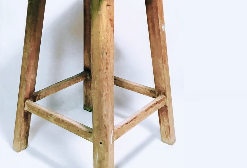 Antique solid wood Taburet
