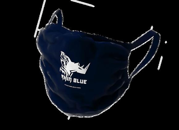 Masque en tissu bleu