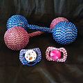 Blinged Out Baby Rattle and Pacifer