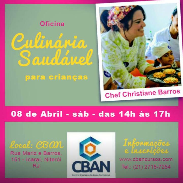 Culinária saudável para crianças dia 08 de abril em Niterói/RJ