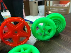 3D Printed Race Car wheels