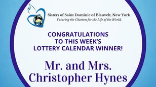 Lottery Calendar Winner - August 2, 2021