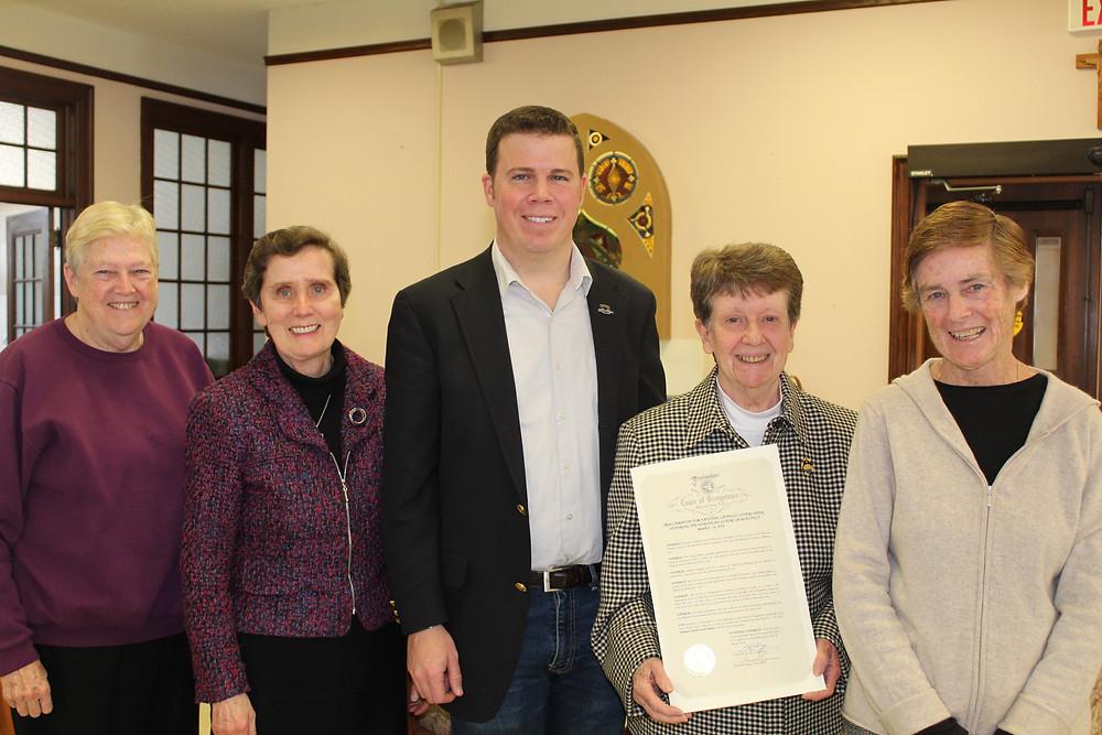 Blauvelt Congregation Leadership Team with Orangetown Supervisor Chris Day