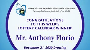 Lottery Calendar Winner - December 21, 2020