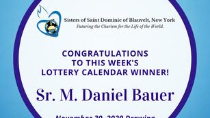 Lottery Calendar Winner - November 30, 2020