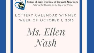 Lottery Calendar Winner Announcement for October 1, 2018