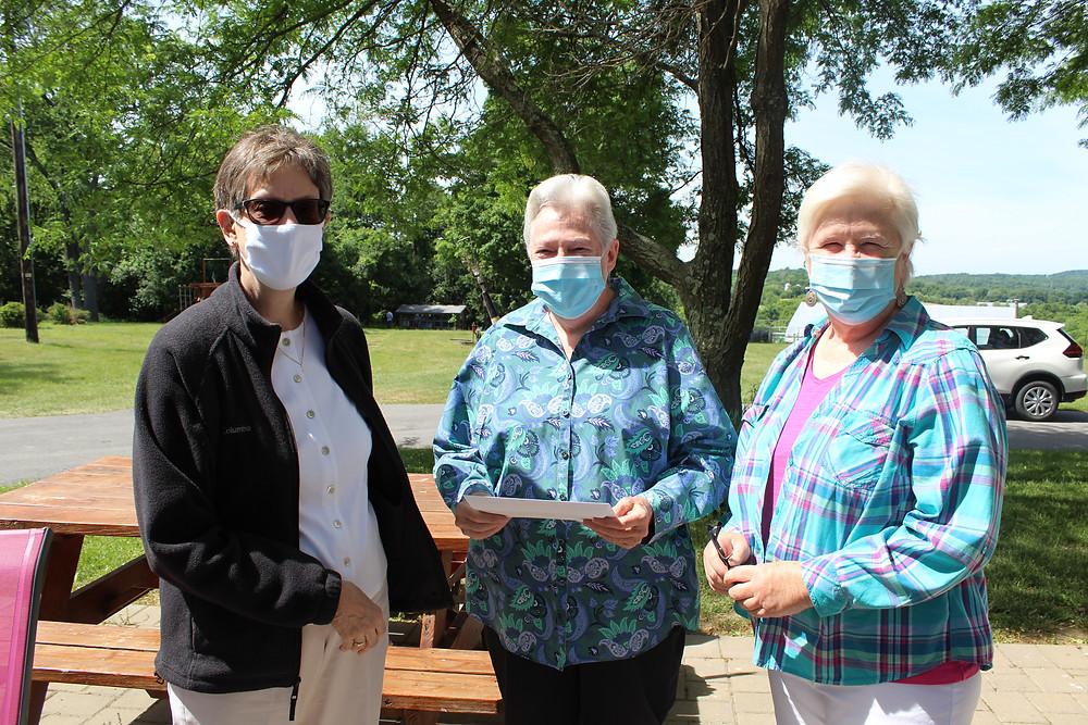 Dominican Sisters Eileen Hollen, Ellenrita Purcaro, and Didi Madden
