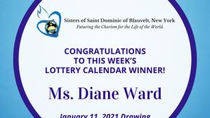 Lottery Calendar Winner - January 11, 2021