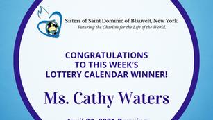 Lottery Calendar Winner - April 23, 2021