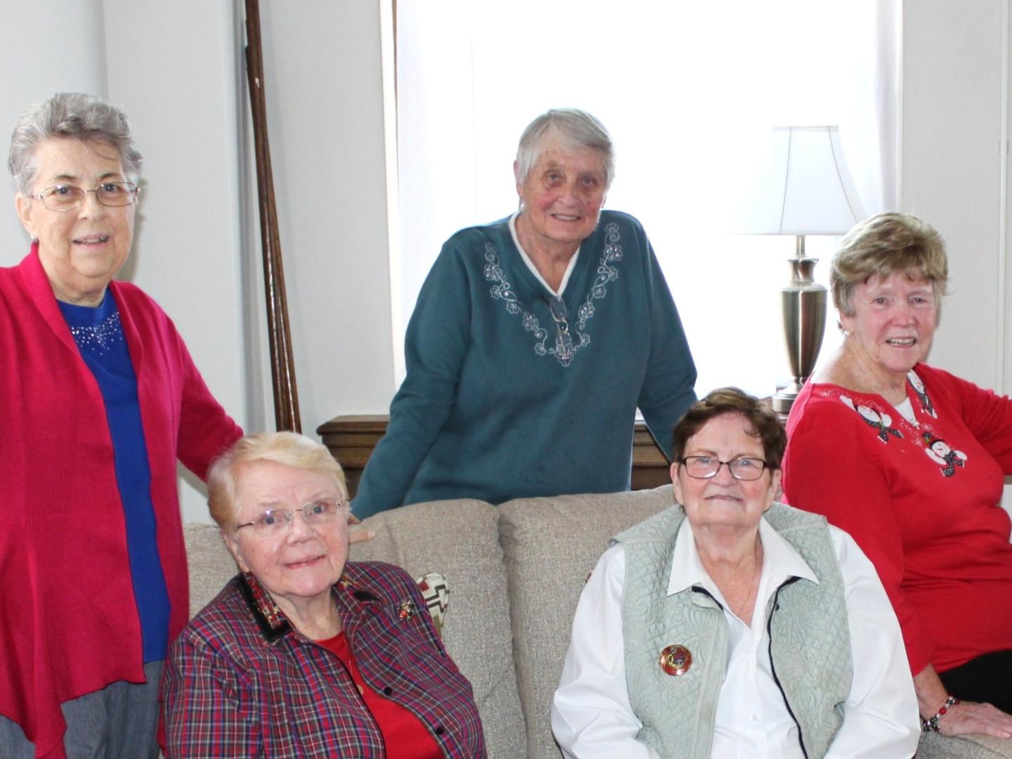 Sisters Joan Smith, Bernadette Burke, Mary Malone, and Alice Kirk