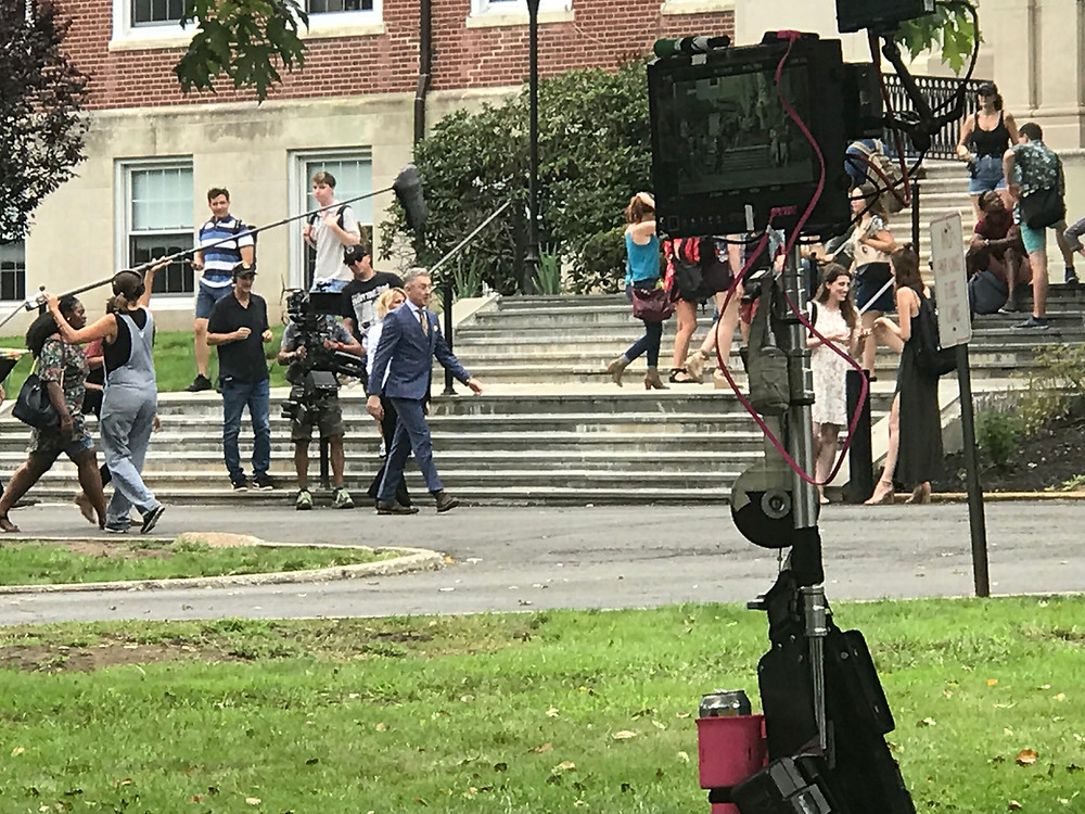 Television filming at Convent