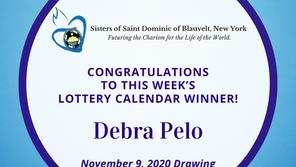 Lottery Calendar Winner - November 9, 2020