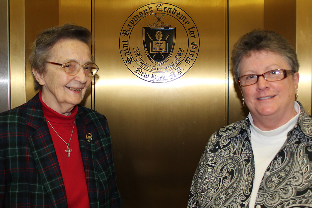 Sr. Gertrude Simpson, OP, and Peggy Roach at Saint Raymond Academy for Girls