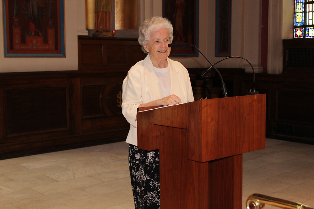 Sister Kathleen Sullivan delivers the Welcome and Call to Worship at the Jubilee Celebration