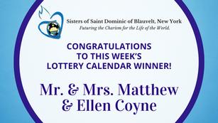 Lottery Calendar Winner - March 1, 2021