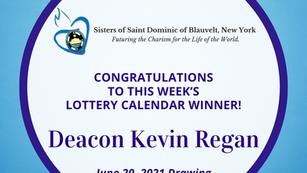 Lottery Calendar Winner - June 20, 2021