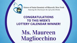 Lottery Calendar Winner - August 9, 2021