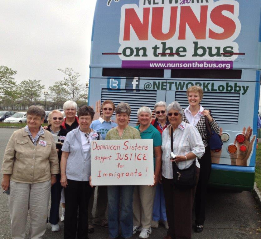 Dominican Sisters participating in Nuns on the Bus