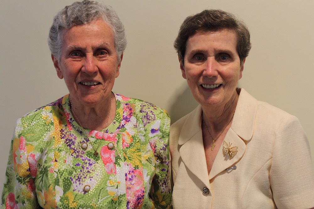 Sisters Margaret and Mary Flood