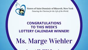Lottery Calendar Winner - August 30, 2021
