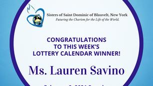 Lottery Calendar Winner - February 8, 2021