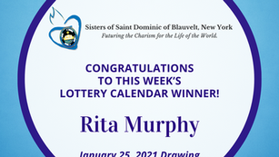 Lottery Calendar Winner - January 25, 2021
