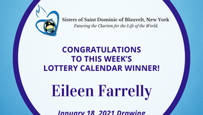 Lottery Calendar Winner - January 18, 2021