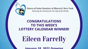 Lottery Calendar Winner - January 18, 2021