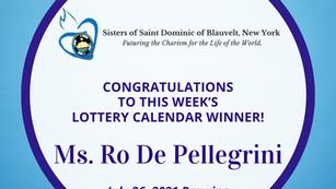 Lottery Calendar Winner - July 26, 2021