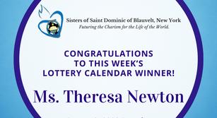 Lottery Calendar Winner - August 3, 2020
