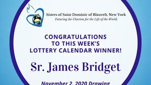 Lottery Calendar Winner - November 2, 2020