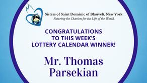 Lottery Calendar Winner - October 18, 2021