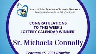 Lottery Calendar Winner - February 15, 2021