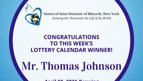 Lottery Calendar Winner - April 19, 2021
