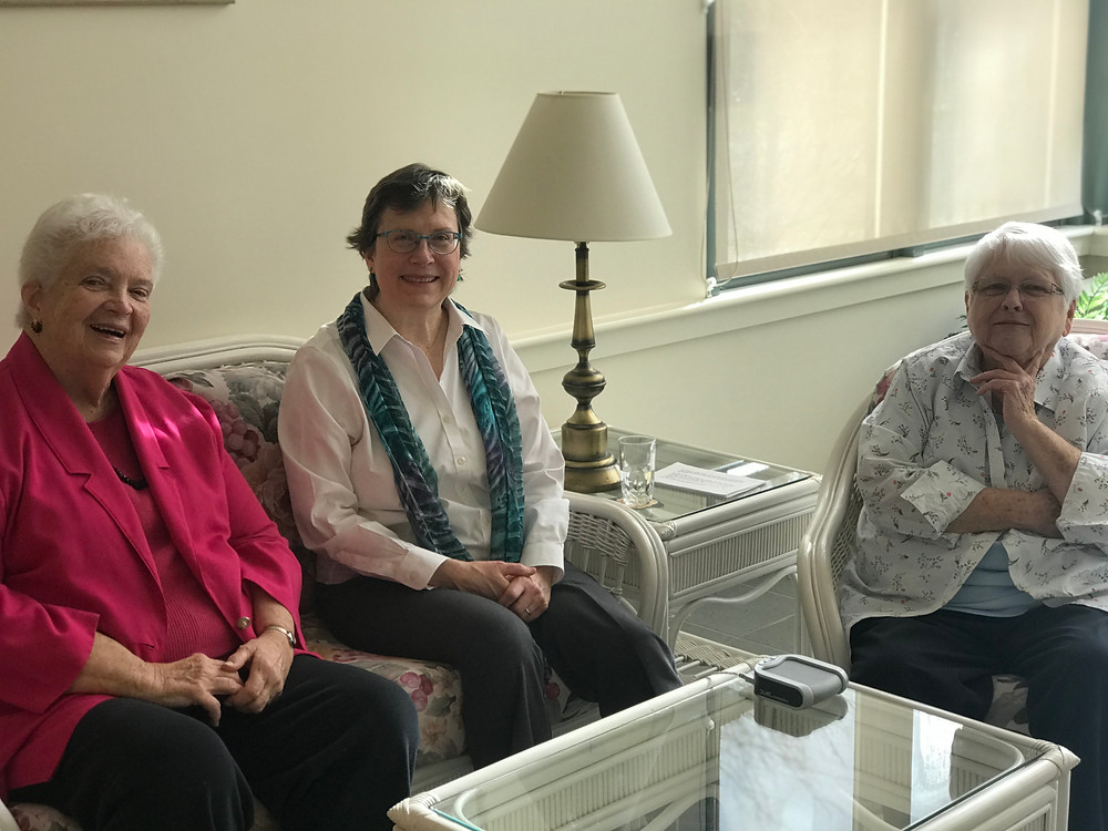 Sisters Barbara Werner, Jeanne Shary, and Mary Pius Fagan