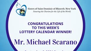 Lottery Calendar Winner - September 6, 2021