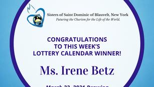 Lottery Calendar Winner - March 22, 2021