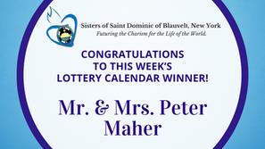 Lottery Calendar Winner - September 29, 2021